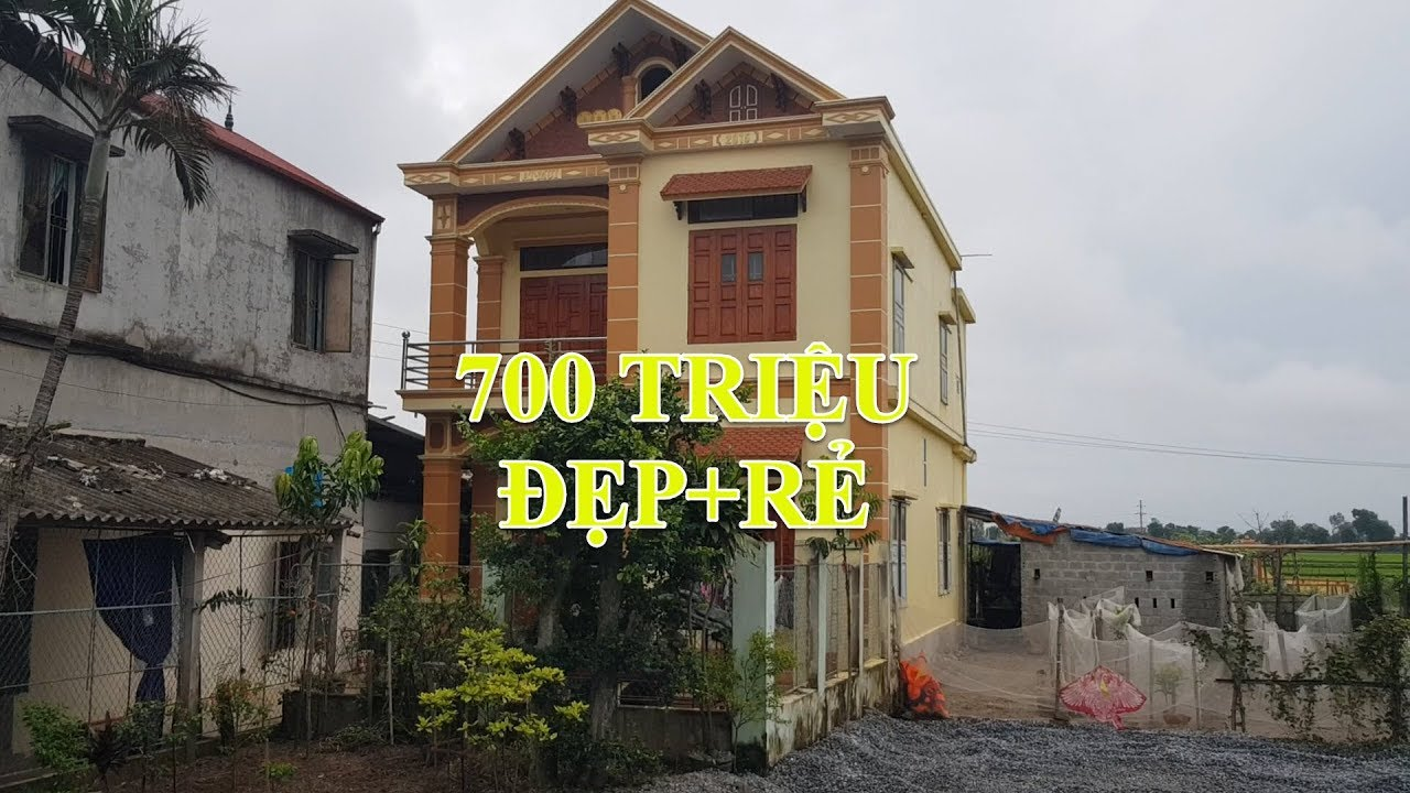Mẫu Nhà Ống 2 Tầng Đẹp Tại Nông Thôn 8x9m Giá 700 Triệu Phù Hợp Túi Tiền