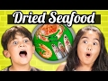 KIDS vs. FOOD - DRIED SEAFOOD (Shrimp, Squid, Sardines!!)
