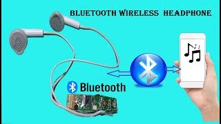 Haw to make bluetooth wireless Headphone use old broken earphones
