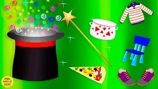 Волшебная шляпа 2.Одежда, обувь, еда, посуда, мебель. Развивающие мультфильмы для детей