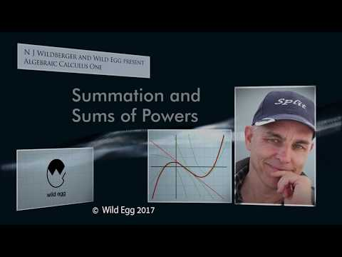 AlgCalcOne: Summation and Sums of Powers