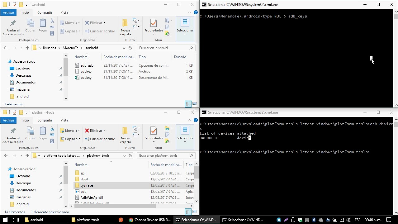 SOLUCION ADB Devices unauthorized Android Studio Devices Offline