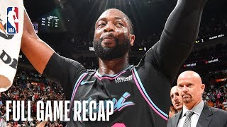 WARRIORS vs HEAT | Dwyane Wade Wins It For Miami | February 27, 2019