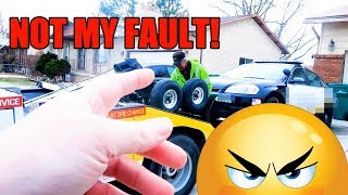 POLICE CAR TOWED...(Christmas Party 2017)