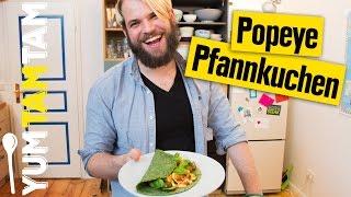 Grüne Pfannkuchen // im Popeye-Style // #yumtamtam