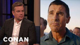 """Matt Damon On Acting Alongside His """"Ford v Ferrari"""" Co-Star Christian Bale - CONAN on TBS"""