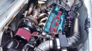 MR2 First Start With New Setup GT3071r DOC Race Manifold MS3x And More On A 3sgte Gen 3 A2W