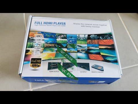 แกะกล่องทดสอบเครื่อง Media Player HD Player กล่องอ่านไฟล์ภาพยนตร์/ภาพ/เพลง กล่องอ่านไฟล์หนัง