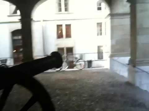 Halles et canons a Geneve
