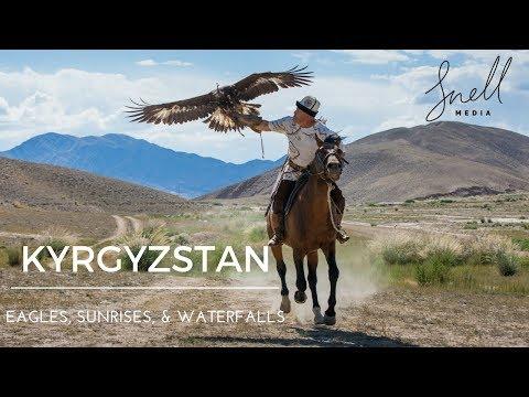 Kyrgyzstan Travel Vlog 1 - Part 2 - Sunrises, Eagle Hunts, Horse Treks, Waterfalls, and Goats!!