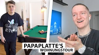 Justin reagiert auf Papaplatte's Wohnung.. | Reaktion