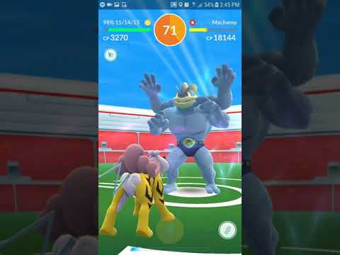 Soloed Machamp with 6 Unique Pokemon! No Phychic type and no Weather Boost Challange!