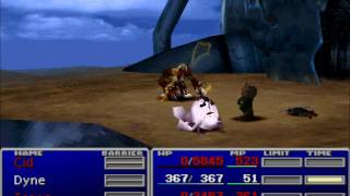 FFVII Hard Mod - Level 8 Barret vs. CMD Grand Horn (No Materia)