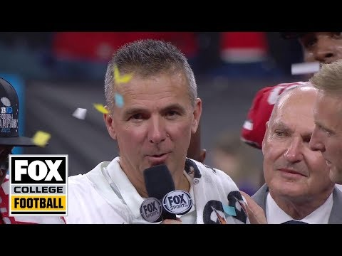 Urban Meyer and Dwayne Haskins react to Ohio State winning Big Ten title | FOX COLLEGE FOOTBALL