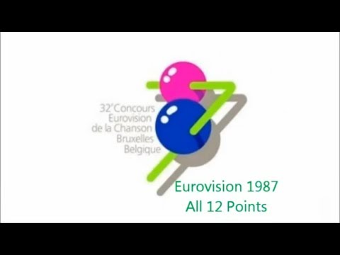 Eurovision 1987 All 12 Points