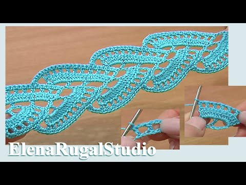 Crocheting Lace For Beginners : Stripy Lace to Crochet Tutorial 1 Part 1 of 2 Crochet Tape Lace ...
