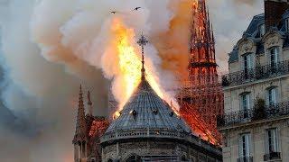 Пожар в Нотр Дам Де Пари. В Париже горит собор Парижской Богоматери. Хронология событий