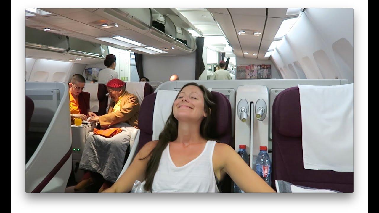 Qatar Airways Business Class Kathmandu To Doha Al Mourjan Business Lounge Youtube