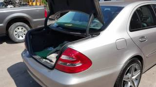 This video will show you how to fix Mercedes trunk that will not op...
