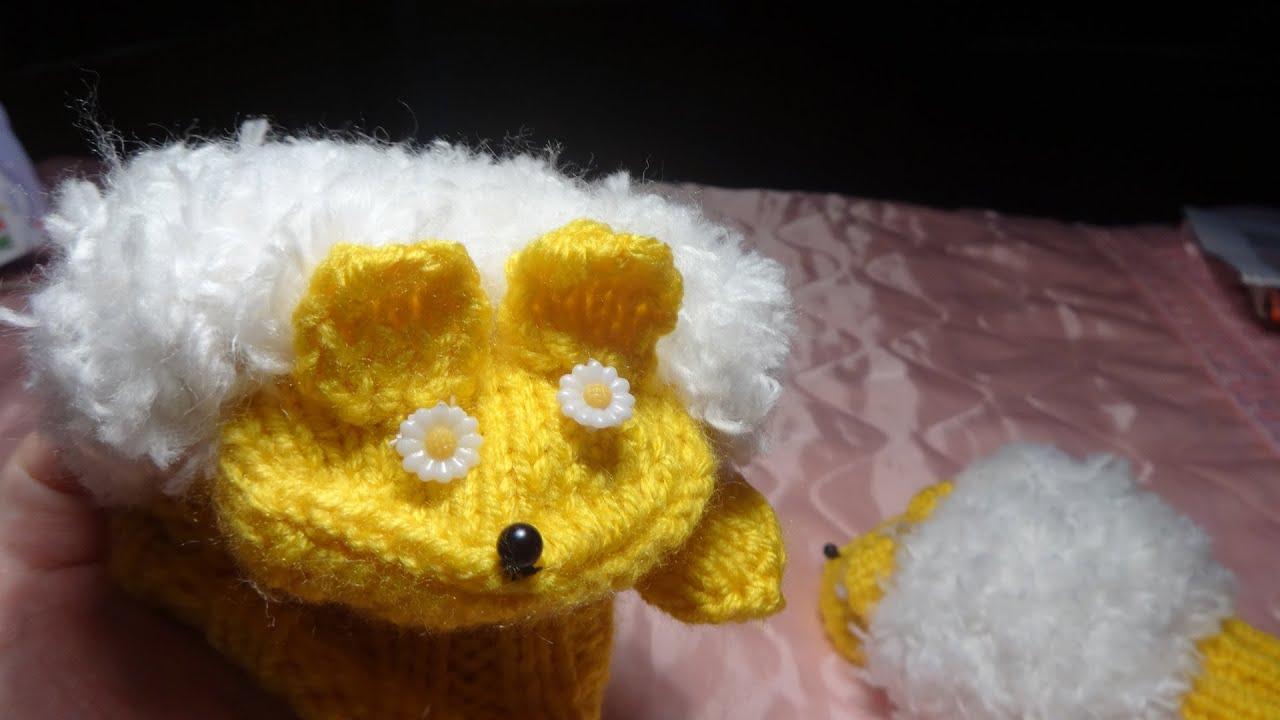 Детские варежки (рукавички) Ежик вязание спицами (подарок своими руками)
