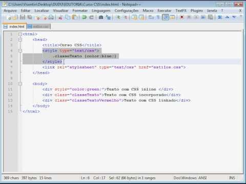 Utilizando O Método Importar Para Vincular O CSS Ao HTML