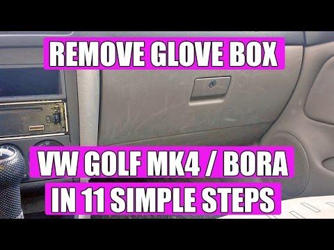 2017 Vw Jetta >> TUTORIAL: How to remove /replace glove box VW Golf Mk4 Bora Jetta in 11 SIMPLE STEPS! - YouTube