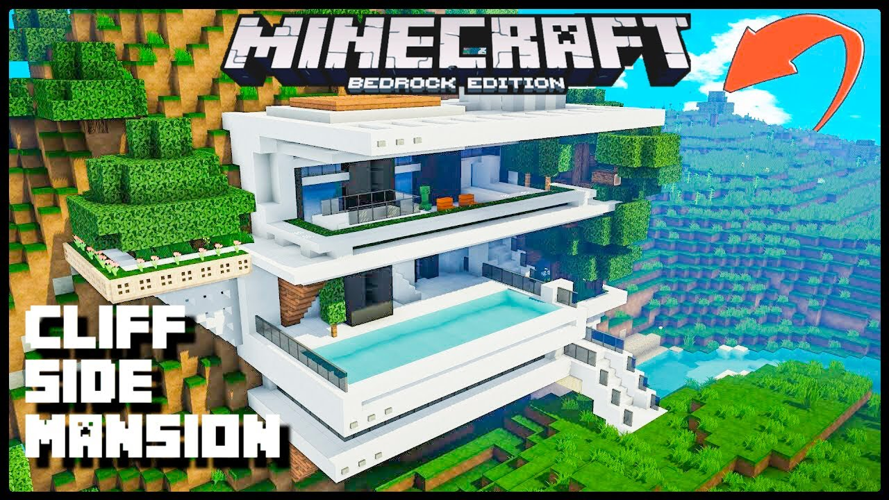 New  Cliff Side Mansion At  Spawn  Seed In Minecraft Pocket Edition  Bedrock Edition