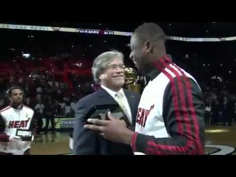 Miami Heat 2012 Ring Ceremony LeBron, Wade, Bosh