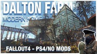 MODERN HOME at Dalton Farm (PS4/NO MODS) Fallout 4 Settlement Tour