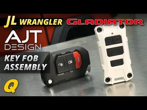 AJT Key FOB Assembly for Jeep Wrangler JL and Jeep Gladiator JT