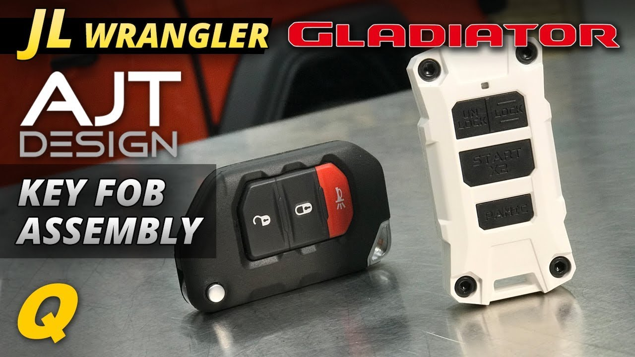 Ajt Key Fob Assembly For Jeep Wrangler Jl And Jeep Gladiator Jt Youtube