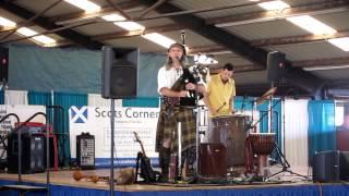 2013 Sarasota Highland games - Bagpipe jam!