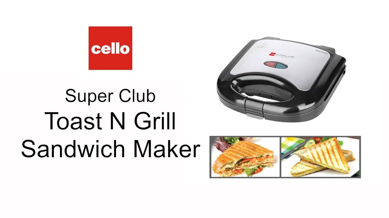 How To Use Cello Grill Sandwich Maker For Everyday Grilled Breakfast And Grilled Snacks Youtube