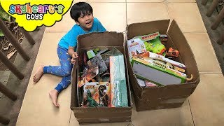 2 BOXES of DINOSAUR TOYS! Skyheart's new awesome dinosaur playsets and toys for kids playtime