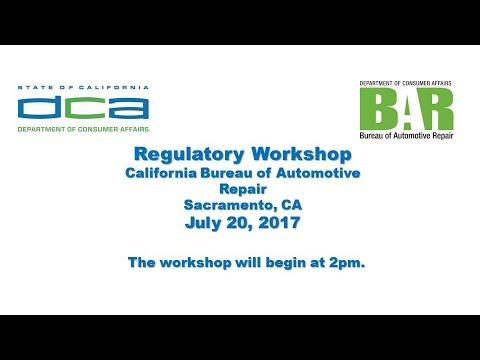 bureau of automotive repair advisory group regulatory workshop july 20 2017 youtube. Black Bedroom Furniture Sets. Home Design Ideas