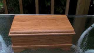 Solid Oak Jewelry Box