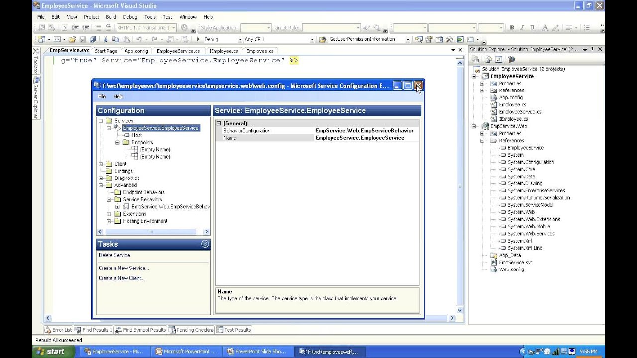 WCF Web service Host & Consuming from ASP Net Web client