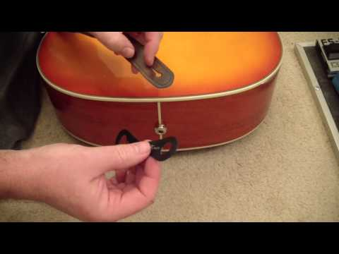 Do It Yourself Musician #13 - Acoustic guitar end pin jack Strap Keeper