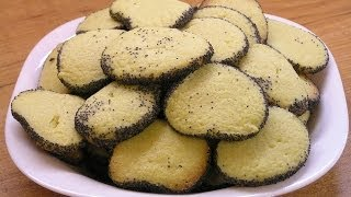Песочное печенье с маком / Homemade shortbread cookies with poppy(Готовим вкусное и простое домашнее песочное печенье с маком - видео рецепт, http://www.e-zepter.ru/ Продукты: - 2-2,5..., 2013-11-10T08:43:14.000Z)