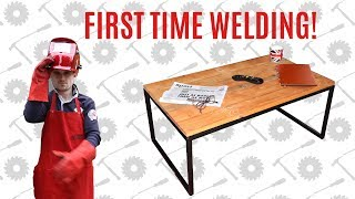 Steel & Pallet Wood Coffee Table - My First Time Welding