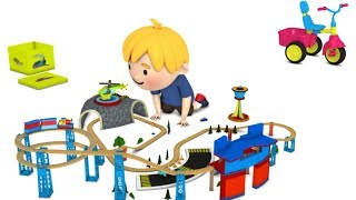 cartoon for kids - chu chu train - train cartoon for children - toy train videos for kids
