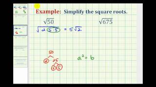 ex simplifying square roots not perfect squares