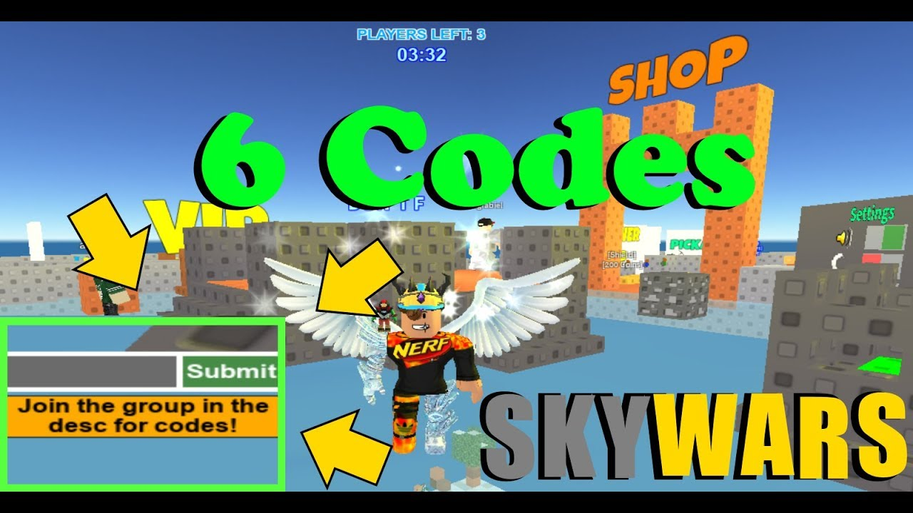 Skywars All 6 New Working Codes! (2020) ROBLOX - YouTube