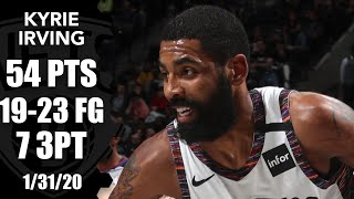 Kyrie Irving Goes Off For 54 Points, Starts 10 Of 10 In Bulls Vs. Nets | 2019 20 Nba Highlights