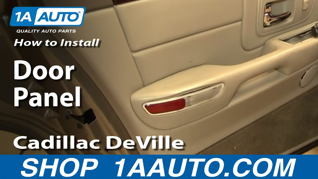How To Remove Rear Door Panel 97-99 Cadillac Deville