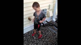 Autistic 3 year old playing
