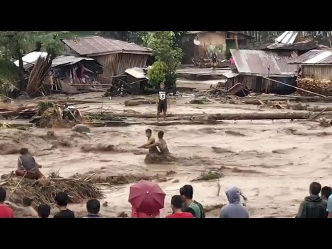 Tropical storm Tembin leaves more than 100 dead and many displaced in the Philippines