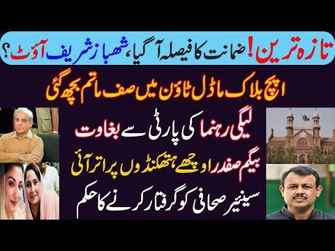 تازہ ترین، ضمانت کا فیصلہ آ گیا، شھباز شریف آؤٹ؟ Details of Shahbaz Sharif bail online status in LHC