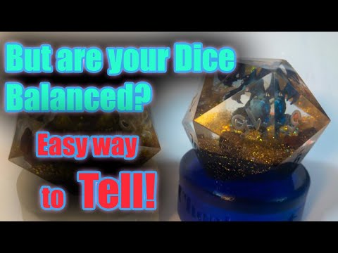 How To Check The Balance Of Your D20 With The Dice Float Test Original Youtube