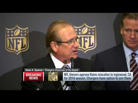 NFL Owners Approve Rams Relocation (Full Press Conference)   NFL News